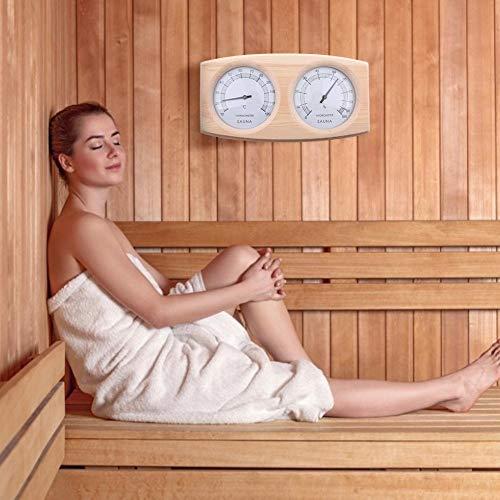 Seasons Shop Sauna Hygrometer Thermometer 2-in-1 Sauna Thermo Und Hygrometer Aus Holz Analoges Sauna Thermo Hygrometer 20-140 °, Bad und Sauna Indoor Outdoor Gebraucht
