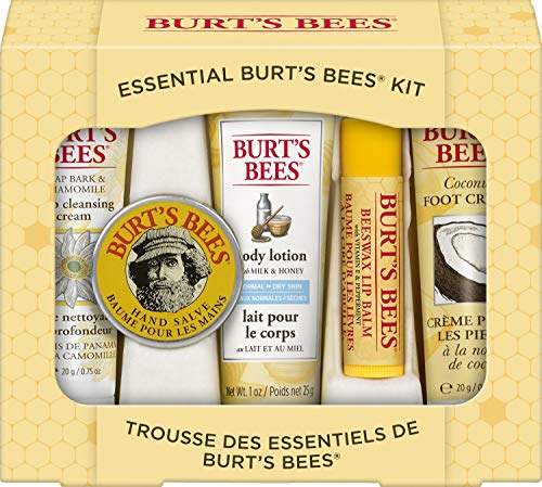 Burt's Bees Geschenkset, mit 5 Produkten in Reisegröße -...