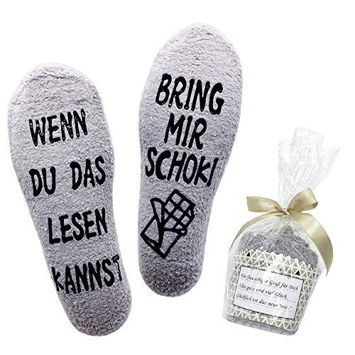 Belloxis Lustige Socken Damen Schokoladen Geschenke Wenn Du...