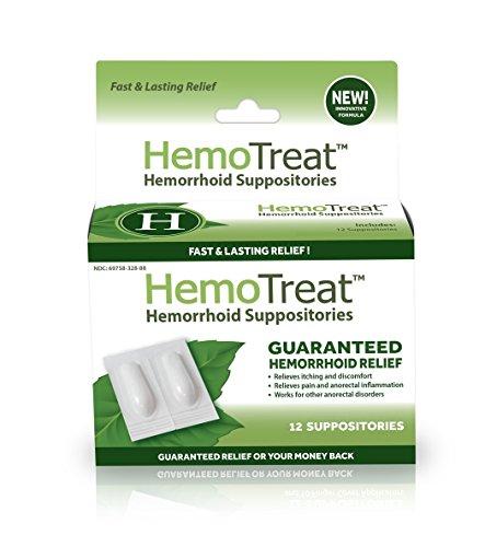 HemoTreat ® Hämorrhoiden Zäpfchen, Zäpfchen für eine schnelle sichere effektive Behandlung