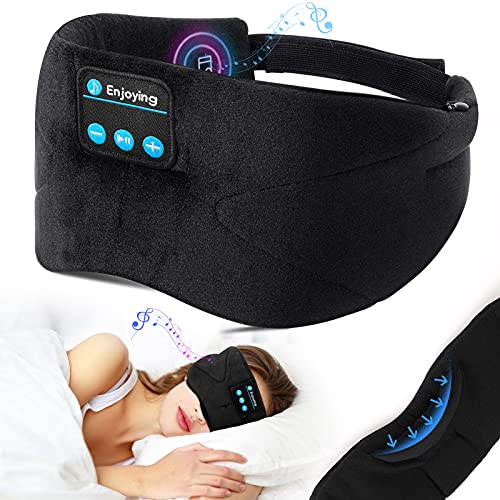 Schlafkopfhörer Bluetooth, LC-dolida Schlafmaske Musik...