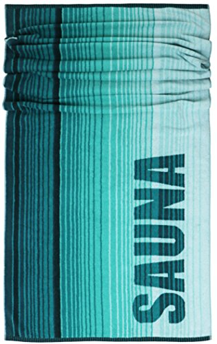 Lashuma Saunatuch Oslo, Liegehandtuch Türkis - Grün, Saugstarkes Saunahandtuch, XXL Handtuch, 100% Baumwolle, 85x200 cm