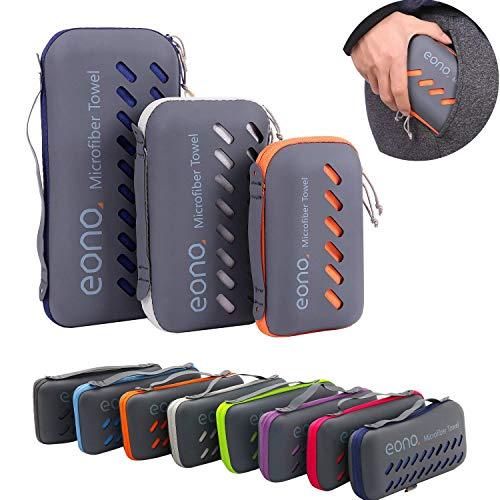 Eono by Amazon - Mikrofaser Handtücher, 8 Farben - kompakt, Ultra leicht & schnelltrocknend - Microfaser Handtücher – Perfekte Sporthandtuch, Strandhandtuch, Reisehandtuch...