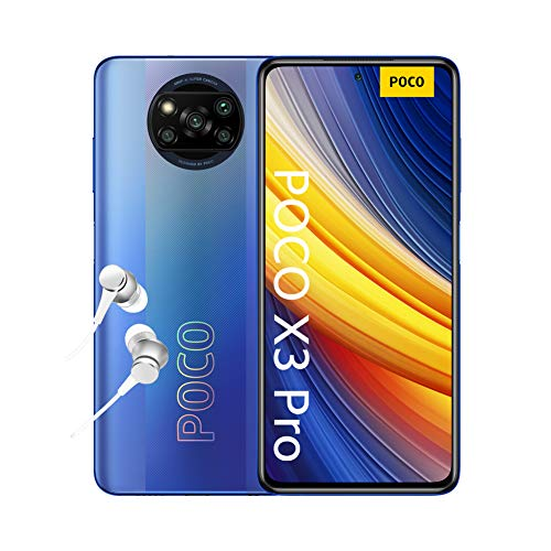 POCO X3 PRO Smartphone (16,94cm (6,67') FHD+ LCD DotDisplay 120Hz, 8GB+256GB Speicher, 48MP Quad-Rückkamera, 20MP Frontkamera, Dual-SIM, Android 11) Blau - [Exklusiv bei...