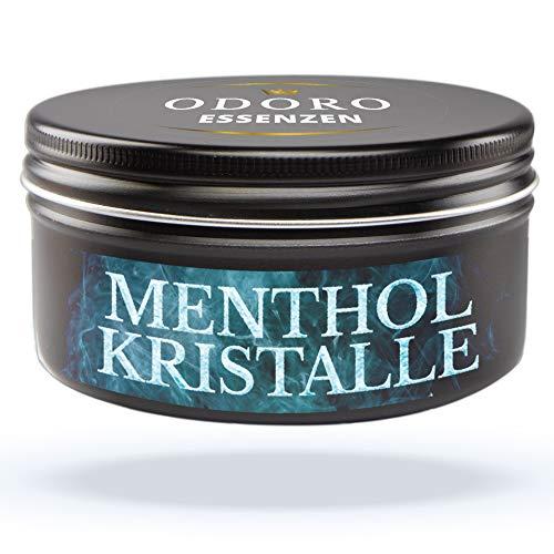 Mentholkristalle aus 100% reinem Menthol. 50g Sauna-Kristalle von Odoro Essenzen für Saunaaufguss, verschließbare Design Alu-Dose. Große Premium Eiskristalle m. kühlender...