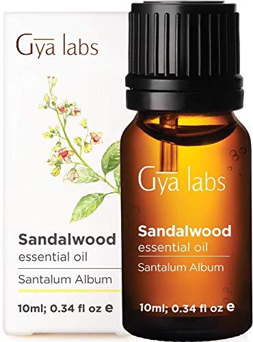 Gya Labs Ätherisches Sandelholzöl – Konzentrierter Geist Ätherische Öle für Besseren Fokus und Gesunden Teint 10 ml – 100 % Reine Ätherische Öle Sandelholz für...