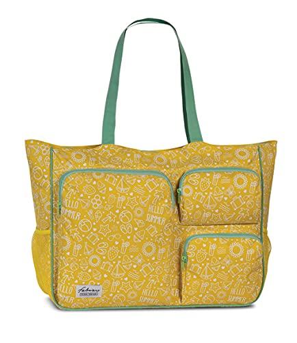 Fabrizio Strandtasche groß XXL viele Taschen Freizeittasche...