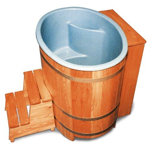 Sauna-Bottich mit Kunststoffeinsatz und Nachfüllautomati,...