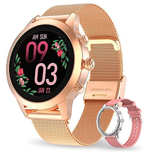 Aney Well Smartwatch Damen, Smart Armbanduhr Fitness Tracker...
