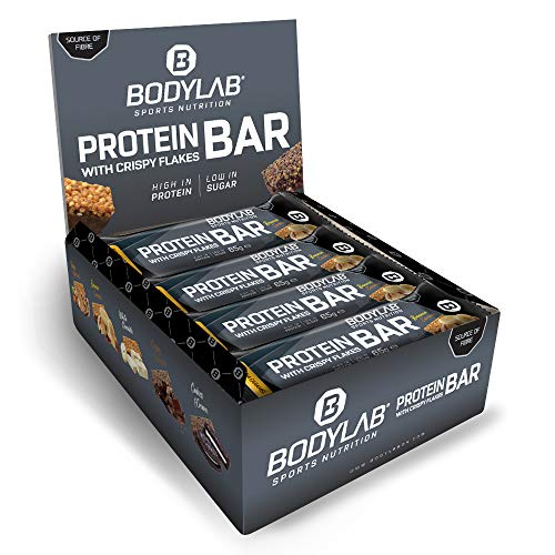Bodylab24 Crispy Protein Bar 12 x 65g, Protein-Riegel mit...
