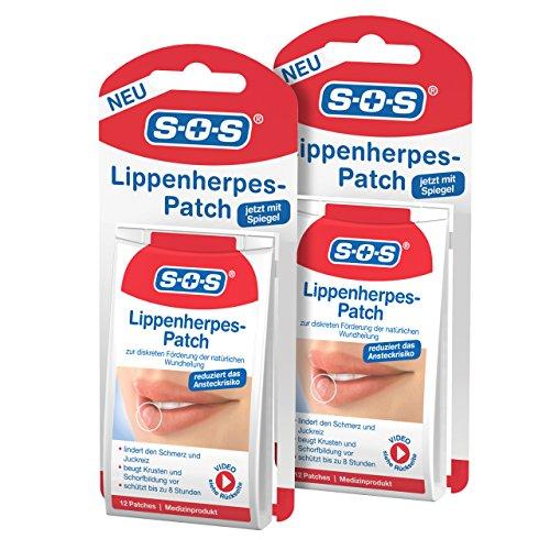 SOS Lippen-Herpes-Patch, zur Förderung der Wundheilung bei Lippenherpes, diskrete Herpes Pflaster zur Linderung von Schmerz und Juckreiz, fast unsichtbar und atmungsaktiv, 2...