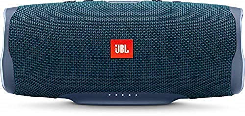 JBL Charge 4 Bluetooth-Lautsprecher in Blau, Wasserfeste, portable Boombox mit integrierter Powerbank, Mit nur einer Akku-Ladung bis zu 20 Stunden kabellos Musik streamen