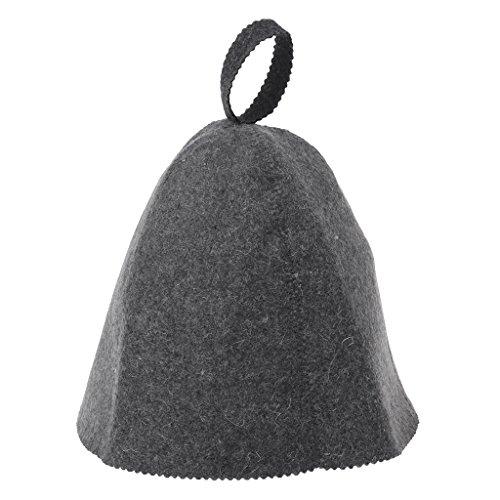 Lazder: Saunahut aus Wollfilz gegen Hitze, russische Banja-Mütze für die Sauna, Kopfschutz