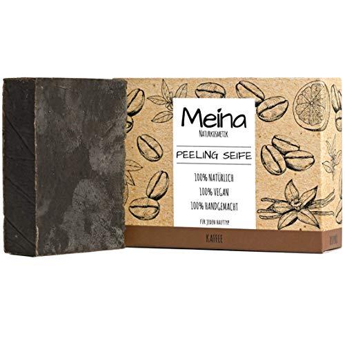 Meina Naturkosmetik - Bio Peeling Seife mit Kaffee,...