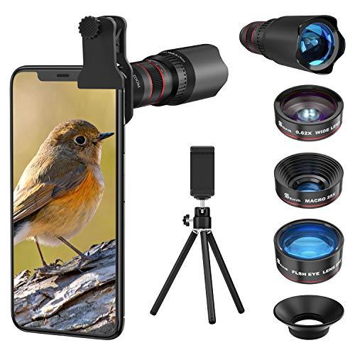 Handy Objektiv Linse Kit Lens Set 22X Teleobjektiv, 25X...