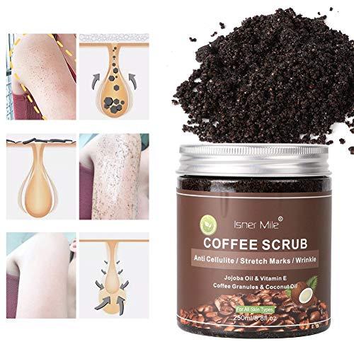 BOBORA Kaffee-Peeling-Peelings Entfernen Cellulite-Dehnungsstreifen Peeling Hydrating und Peeling Peeling für nährende wesentliche Körperpflege