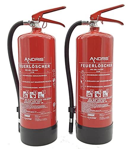2X Orig. Marken-Feuerlöscher 6kg ABC Pulverlöscher mit...