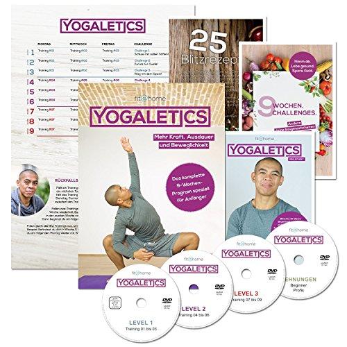 YOGALETICS: Premium Edition. Das 9-Wochen-Workout speziell für Anfänger. Mehr Kraft, Ausdauer und Beweglichkeit durch Yoga-Fitness. Effektives Bodyweight-Training ohne...