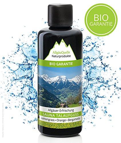 Saunaaufguss mit 100% BIO-Öle Erfrischung Lemongrass Orange Bergamotte (100ml). Natürlicher Sauna-aufguss m....