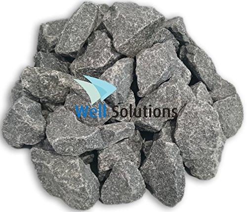 WelaSol Aufguss Saunasteine geprüfte und vorgewaschene Premium Olivin-Diabas Steine für Sauna Ofen ca. 19-20...