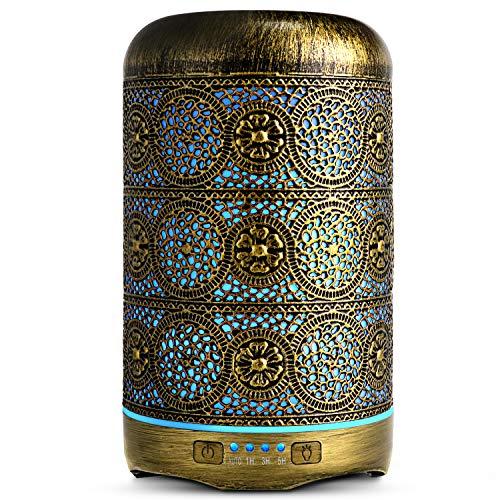 SALKING Aroma Diffuser, 260ml Metall Aromatherapie Diffusor für ätherische Öle, Raumbefeuchter Elektrisch...