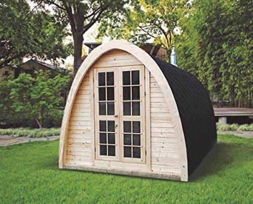 Finnische Fass-Sauna in Igluform für bis zu 4Personen, zur Verwendung im Außenbereich CON STUFA A LEGNA