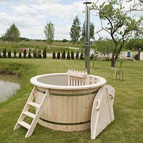 Wunderschönes Hot Tub/Holzfass für EIN Bad im Freien/Badefass mit Ofen Ø170cm