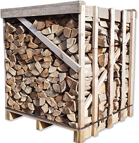 Buche 33cm RM Box Brennholz trocken + UNION Briketts Gratis Kaminholz ofenfertig Holz Feuerholz Scheitholz Kaminfeuer Lagerfeuer Pizzaofen 1RM=ca.1,2...