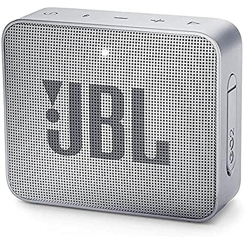 JBL GO 2 kleine Musikbox in Grau – Wasserfester, portabler...