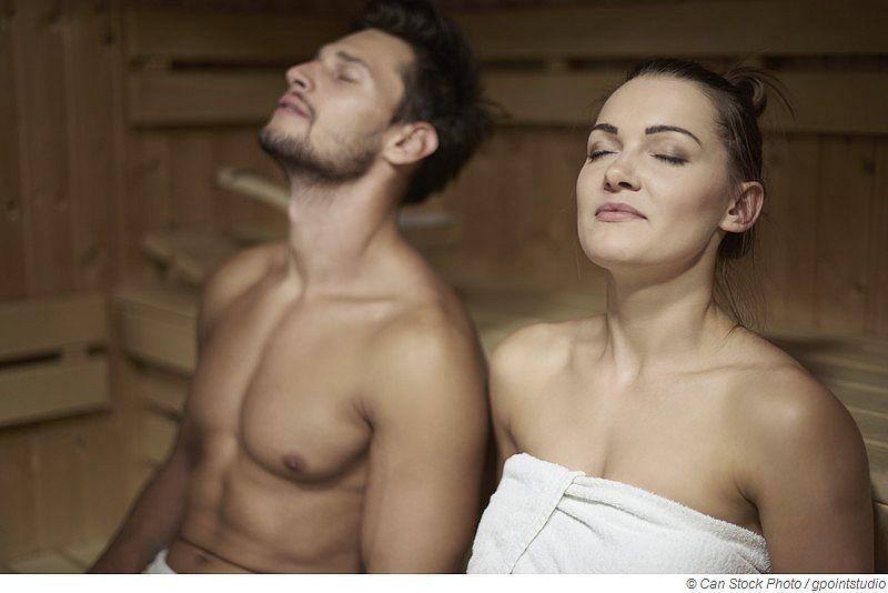 Atmung in der Sauna