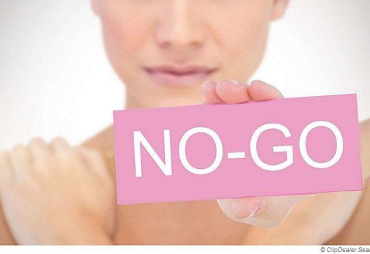 NO-GOs in der sauna