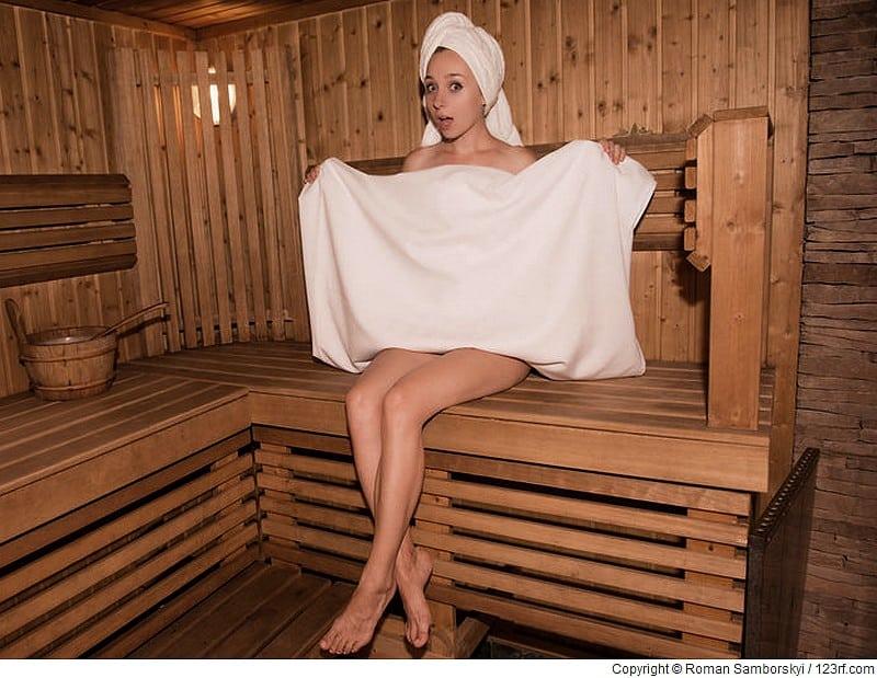 Sauna ständer in der Steifer Penis