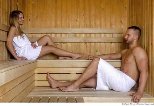 Warum schwitzen wir in der Sauna