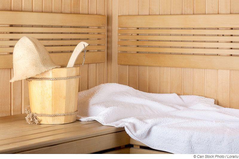Welches Handtuch für die Sauna